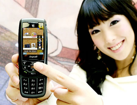 samsung1 Samsung SCH V960 worlds first mobile phone with optical joystick