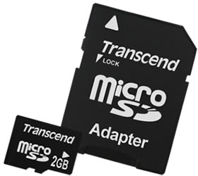 2GmicroSD Transcend 2GB microSD smallest memory card in the world