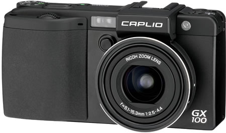 rigx100a Ricoh Caplio GX100 with Removable Electronic Viewfinder