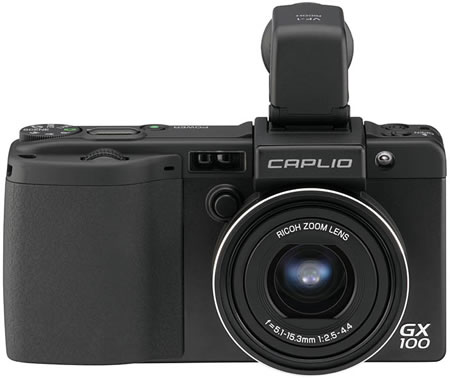 rigx100e Ricoh Caplio GX100 with Removable Electronic Viewfinder