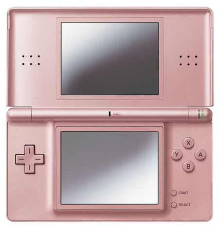 dslite04 thumb Nintendo DS Lite now in Metallic Rose and Glossy Silver color