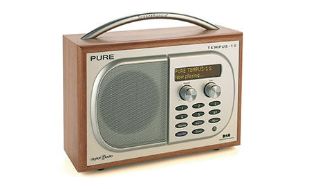 pureA Pure Digital TEMPUS 1S DAB digital radio with natural sounds