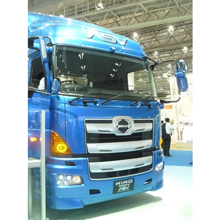 Hino ASV Hino Motors Four Cameras monitor system Show Birds Eye View of Vehicle