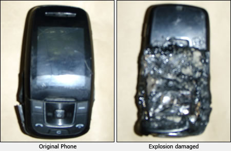 Mobile Explosion First Korean killed by mobile phone battery explosion?