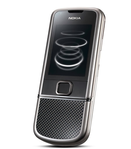 8800Carbon Arte 07 Nokia 8800 Carbon Arte premium mobile phone with unique tap for time feature