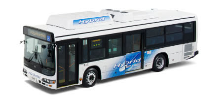 hino bus DENSO develops Electric Air conditioning System for Hybrid Buses with 50 percent less power consumption