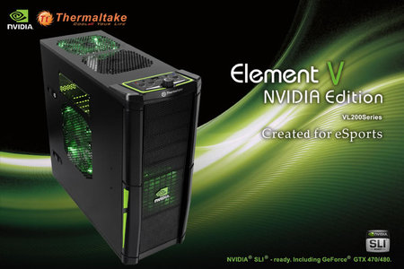 thermaltake nvidia thumb 450x300 Thermaltake announces the worlds one and only NVIDIA certified chassis for next generation graphics cards
