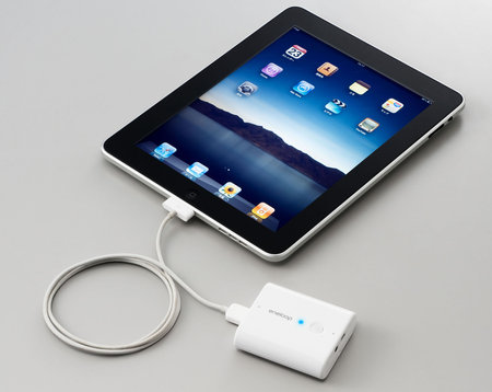 sanyo iPad thumb 450x358 Sanyo eneloop mobile booster KBS L2BS for iPad, iPhone and other mobile phones