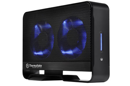 World first dual fan enclosure Thermaltake launches worlds first storage enclosure solution with dual fan design