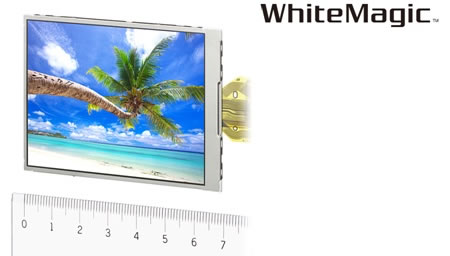 sony white magic Sony announces WhiteMagic 3 inch VGA LCD module incorporating the newly developed RGBW method for digital cameras