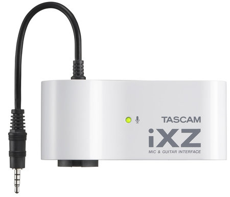 ixz top thumb 450x386 TASCAM iXZ turns an iPad/iPhone/iPod Touch into an instant recording studio