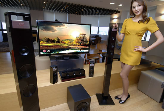 lg home system LG to unveil new 3D Sound Home Theater systems at CES 2012 with 3D Sound Zooming technology