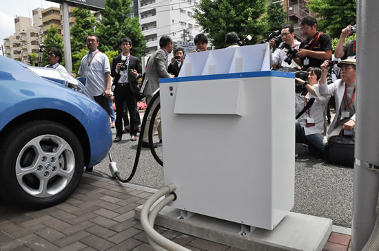 Nissan leaf to home1 Nissan to launch LEAF to Home power supply system in Japan in mid June