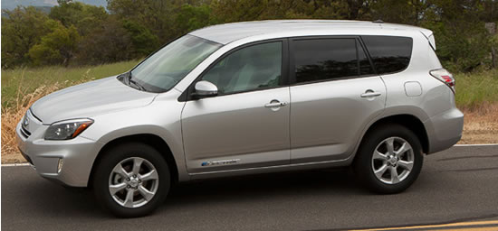 toyota Rav4 EV Tesla Toyota RAV4 EV all electric compact SUV developed with Tesla unveiled at the EVS 26 in Los Angeles 