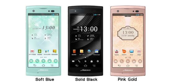 fujitsu smartphone Fujitsu ARROWS ef Smartphone adjusts the displays color based on the users age