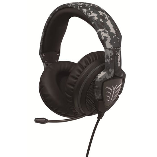 ASUS Echelon Camo Edition gaming head set Asus Echelon Camo Edition Gaming Headset evokes the excitement of first person shooters