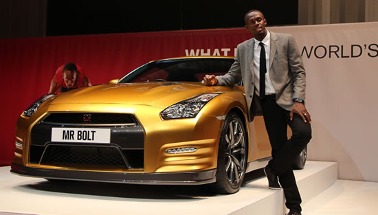 Bolt Gold Nissan GT R Nissan to produce only one Bolt Gold GT R specifically for global online charity auction on eBay