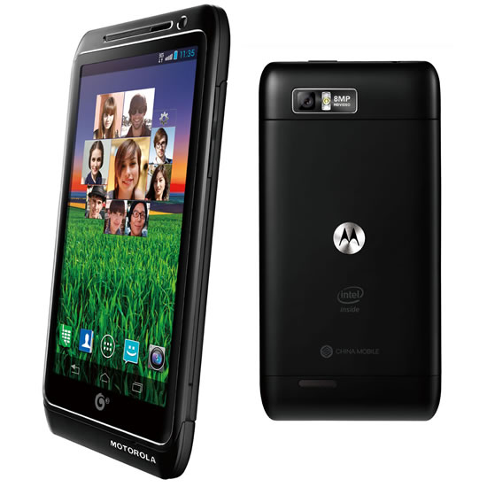 motorola MT788 Motorola Mobility unveils the first Smartphone with Intel inside and speed up to 2GHz  Motorola MT788   