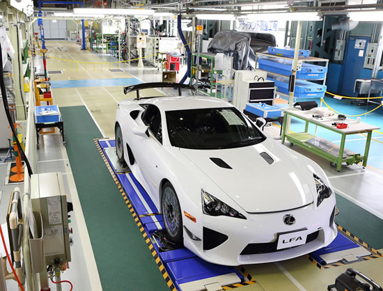 500th LFA Lexus Completes the 500 unit production run of the two seater LFA super car