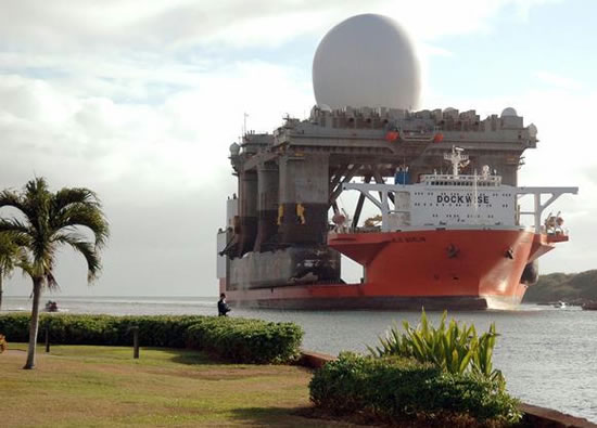 Sea Based X Band Radar system U.S. Radar capable of identifying a baseball from about 4,800 km away to Monitor N.Korean Rocket launch