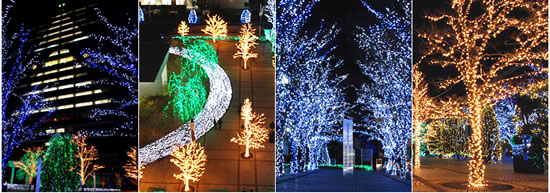 christmas lighting japan 200,000 energy efficient LEDs to illuminate Kyocera headquarters during this holiday season