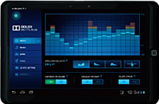dolby digital plus Fujitsu docomo ARROWS Tab F 05E tablet customizes the screens color balance to the users age