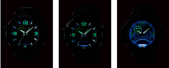 Casio Gshock LED Casio G Shock GA 1000 for aviators comes with twin sensors for compass bearing and temperature