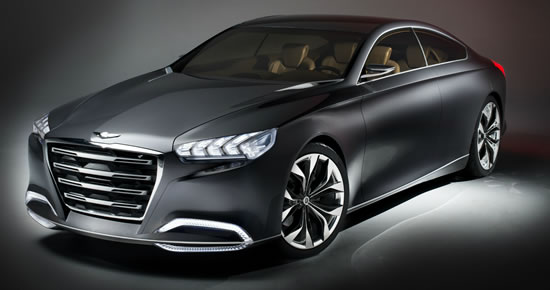 Hyundai HCD 14 Genesis1 Hyundai Motors premium concept HCD 14 Genesis makes its world debut at the 2013 NAIAS