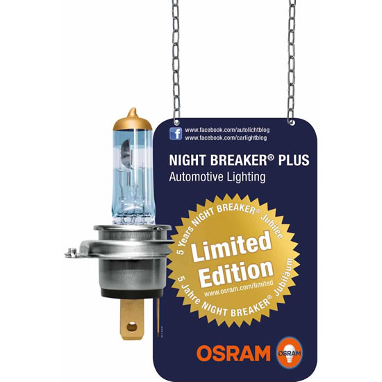 Osram night breaker plus limited edition Osram announces limited edition of Night Breaker Plus lamp with a 24 carat gold cap