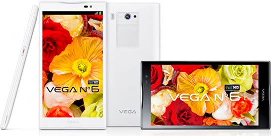 Vega No Pantech unveils Koreas first 6 inch Full HD LTE smartphone  Vega No. 6  