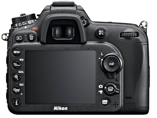 Nikon D7100 back Nikon announces high performance DX format D7100 digital SLR camera