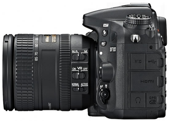 Nikon D7100 side Nikon announces high performance DX format D7100 digital SLR camera