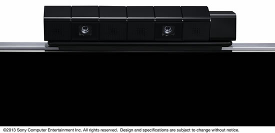 PS4 eye Sony PlayStation 4 Eye incorporates two high sensitive cameras that recognize the depth of space precisely