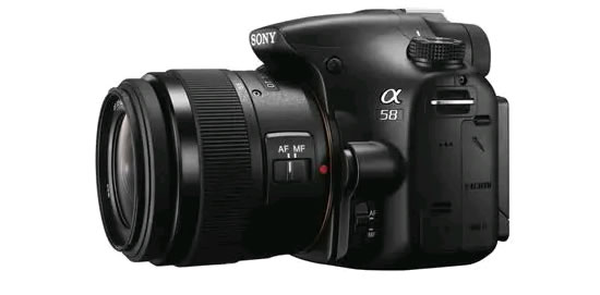 Sony A58 side Sony announces Alpha SLT A58 camera with new Exmor APS HD CMOS sensor and OLED Tru Finder