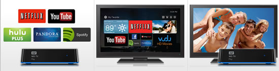 WD TVplay WD unveils WD TV Play media player that streams popular Internet channels    
