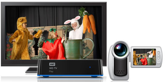 wdtvplay WD unveils WD TV Play media player that streams popular Internet channels    