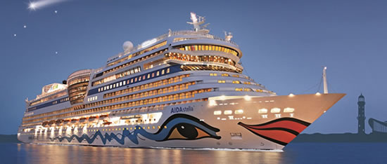 Aidastella cruise ship Osram illuminates cruise ship Aidastella with 9,000 Eco lamps and more than 1 km of LED strips