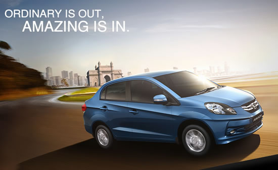 Honda amaze Honda launches the most fuel efficient car in India  Amaze Diesel  