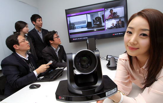 LG VCS LG launches videoconferencing system  VR5010H in South Korea