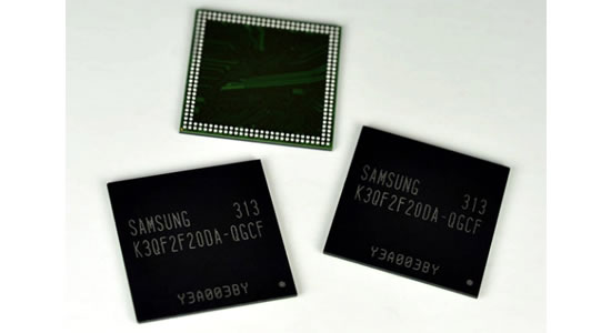 Samsung Four Gigabit LPDDR3 Mobile DRAM Samsung announces industrys first production of Four Gigabit LPDDR3 Mobile DRAM using 20nm class Process Technology