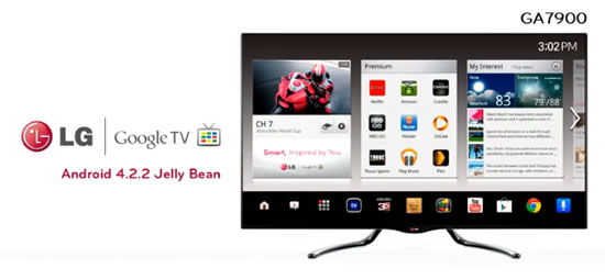 GoogleTV LG LG to update Google TV with Android 4.2.2 Jelly Bean OS 